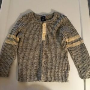 Gap Boys Black/GrayWhite 2 Button Sweater 18-24m